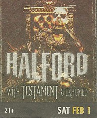 02-01-03 Halford/Testament/Exhumed @ House of Blues, Las Vegas, NV