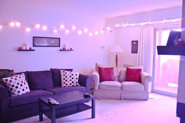 String Lights For Room : Living room, string lights Flickr - Photo Sharing!