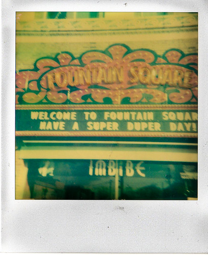Fountain Square, Indianapolis Polaroid