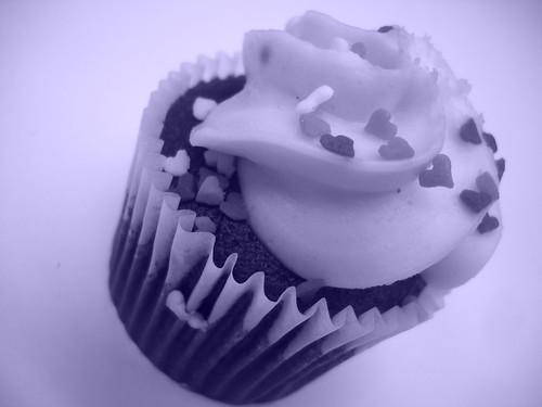cyanotype cupcake