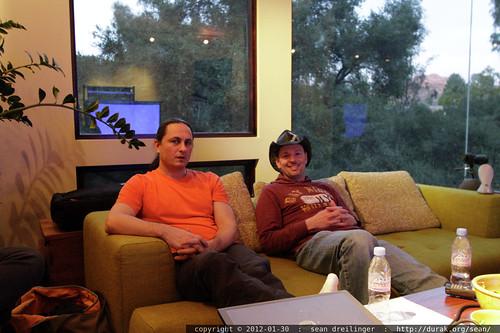 sean & john waiting for the next meeting to convene    MG 8108