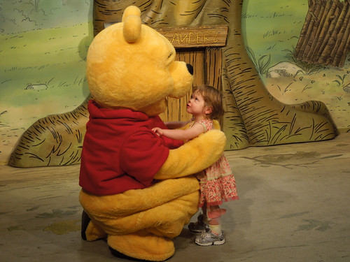 Meeting Pooh for the first time