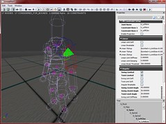 The Knights King in the Physics Asset editor with constraints mode