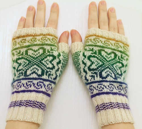 Completed Colorwork Gloves