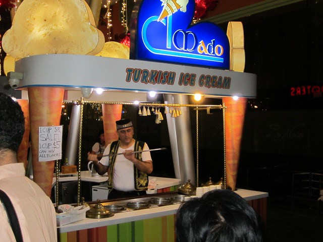 Turkish Ice Cream in Clarke Quay