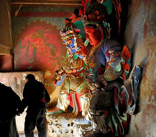 The Guardian Kings of Kumbum in Gyantse, Tibet