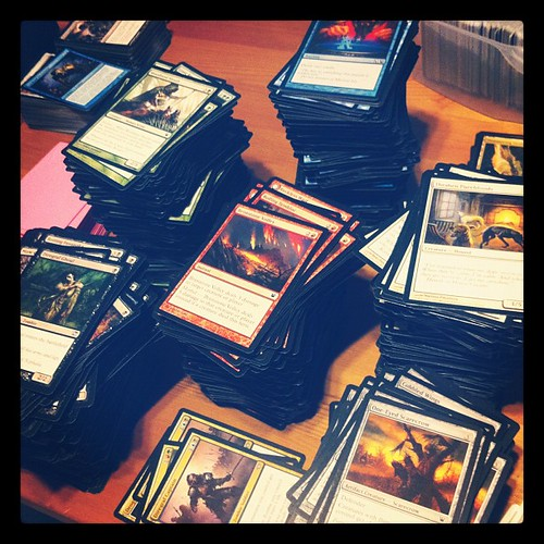 Being a nerd and sorting through my magic cards :p