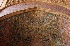 Persian and Islamic Design at Pink Mosque - Shiraz, Iran