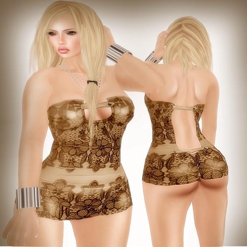 A&A Fashion Sannu Dress brown