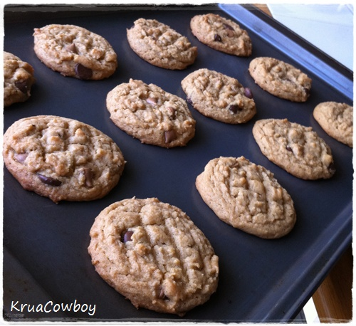Peanut Butter Oatmeal Milk Chocolate Peanut Butter Chip Cookies