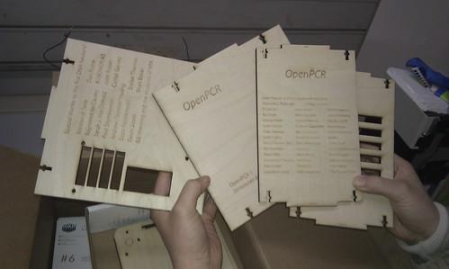 OpenPCR laser cut boards