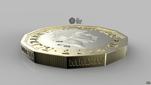 New British pound coin side