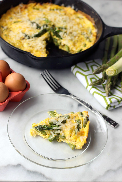 Asparagus & Leek Frittata - Gluten-free (dairy-free options)