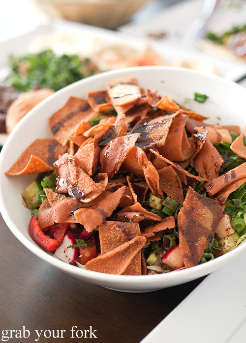 Fattoush salad at Hawa Charcoal Chicken, Granville