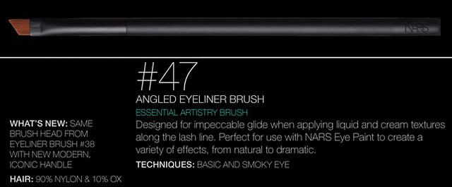 NARS Artistry Brush #47 - Angled Eyeliner Brush