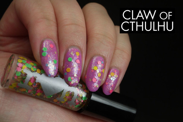 Rainbow Honey Swordlily Swatch (with Rainbow Honey Poffin Party and no top coat)
