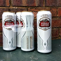 You see 4 tins of crisp delicious Stella Artois.  I see 4 pinhole cameras that need emptying.