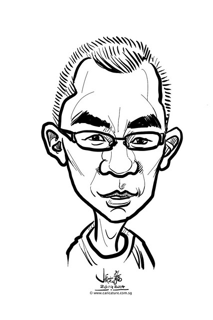 digital live caricature sketching for National Heart Centre Singapore -24
