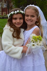 Sara And Violet After Their First Communion