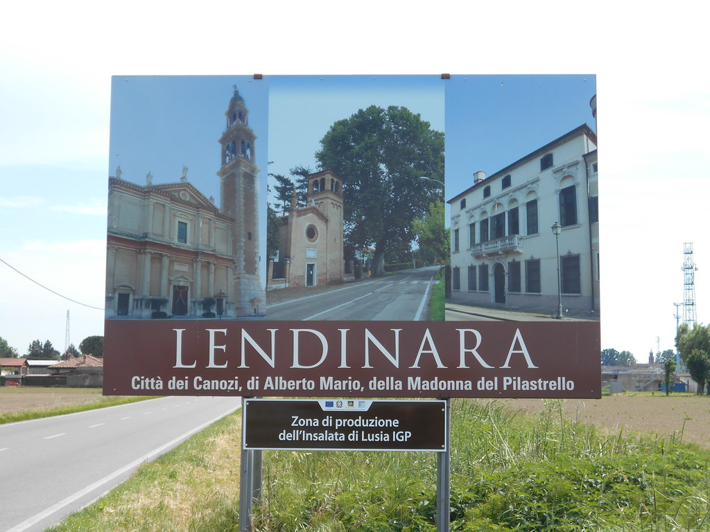 Lendinara, zona  di produzione dell'insalata di Lusia IGP