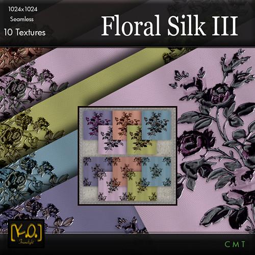 [K.O.] Floral Silk III - 10 Textiles by Khan Omizu