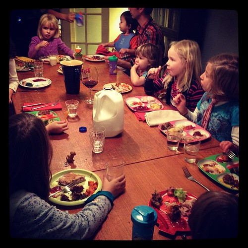 Second thanksgiving dinner, kid table