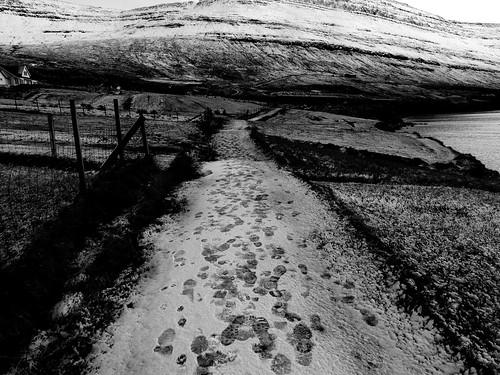 Foot steps.