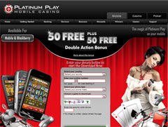 Platinum Play Mobile Casino Lobby