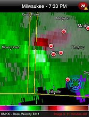 Verona,WisconsinTornado-Radar