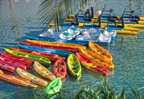 Lagoon water toys at Hilton Waikoloa Village