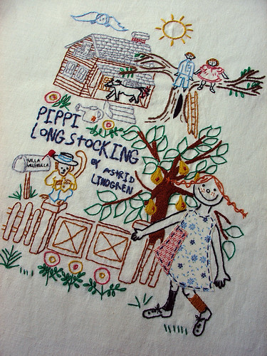 Pippi Longstocking embroidery