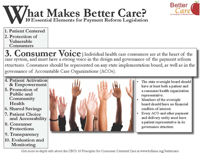 Better Care Principle 3: Consumer Voice
