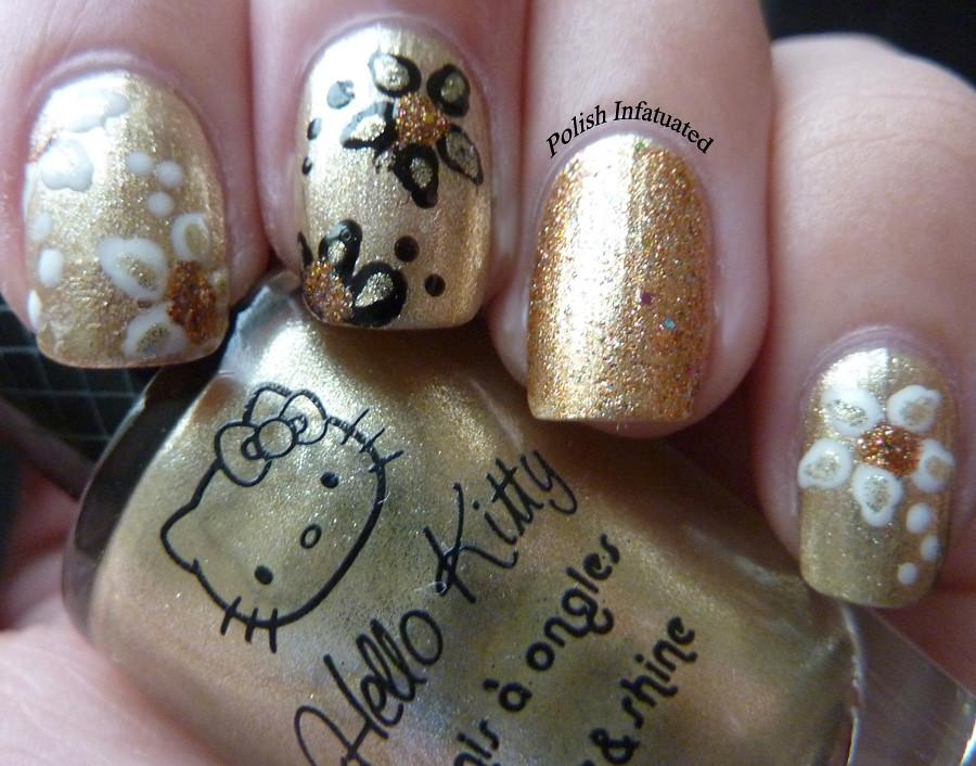 gold nail art1