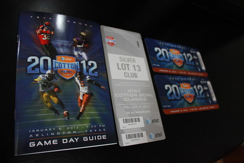 2012 Cotton Bowl Tickets