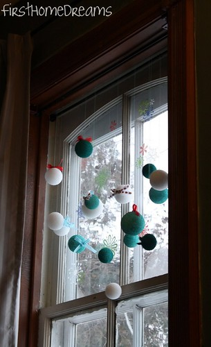 home made christmas ornaments window decorating