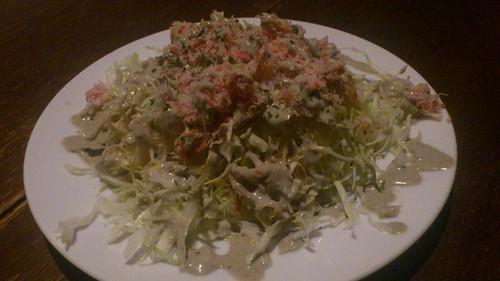 ズワイガニのサラダ かに味噌のソース