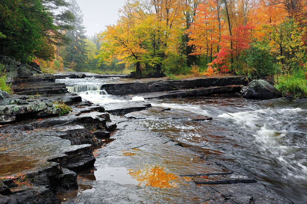 Upper Canyon Falls ~ Sturgeon River - Near Alberta, Michigan