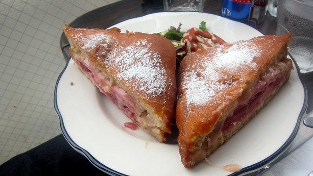 the monte cristo sandwich at the bowery