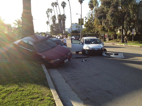 Car Crash On Abbot Kinney