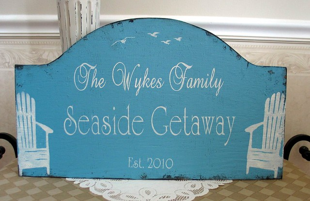 Personalized beach house sign flickr photo sharing for Custom beach house