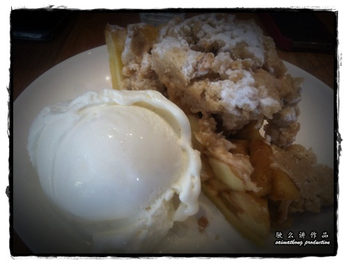 Hot Apple Crumble With Vanilla Ice Cream - Plan B @ Bangsar Village 1