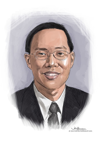 digital portrait of BBM-Alexander Chan Meng Wah