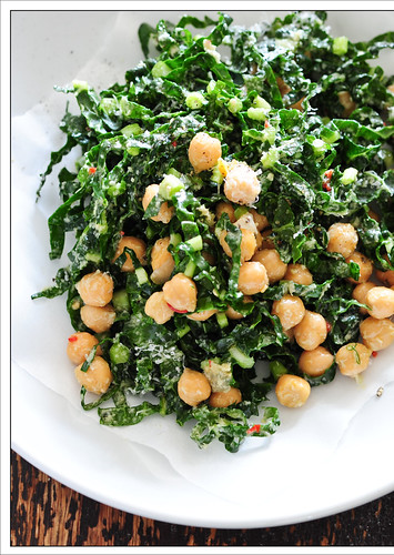 green chickpea salad6