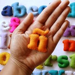 spanish felt letter set