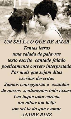 UM SEI LA DO QUE E AMAR by amigos do poeta