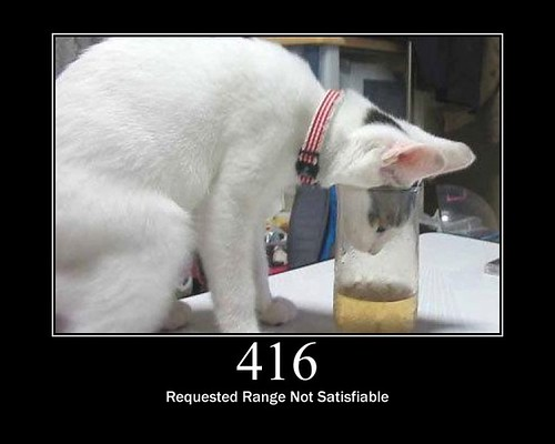 416 - Requested Range Not Satisfiable