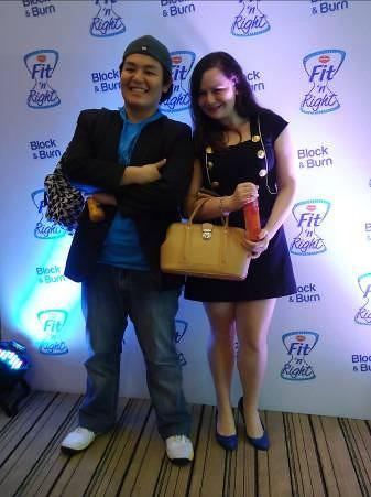 (L-R) Hiroshi Okuda (loss -2.5% body fat) and Jana Fyfe (loss -1.2% body fat)