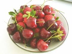 strawberry, produce, fruit, food,