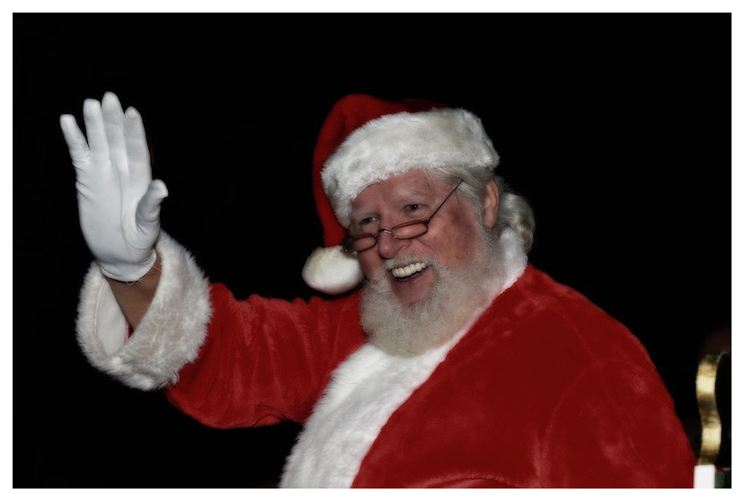 Santa in white border