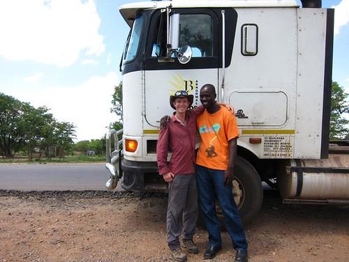 hitchhike semi truck Zambia Africa